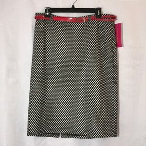 NWT!  Sunny Leigh Black and White Skirt